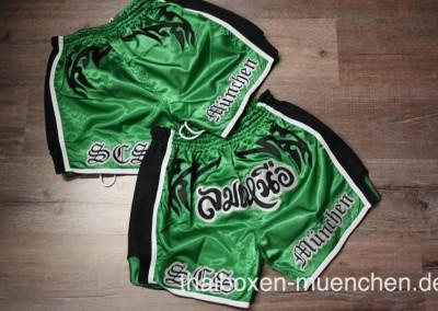 Muay Thai Shorts - grün/schwarz