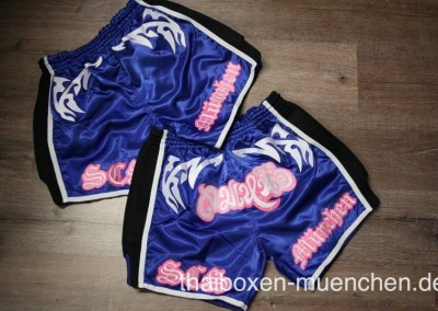 Muay Thai Shorts - blau/pink