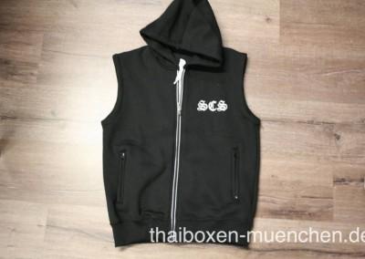 Sweatshirt/Weste - schwarz/weiß