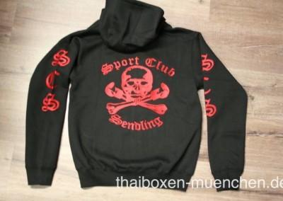 Sweatshirt/Jacke - schwarz/rot