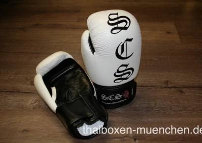 Boxhandschuhe weiß