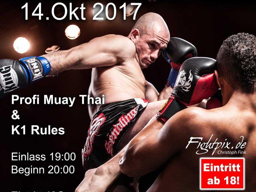 SCS Fight Night 2017 – Profi Muay Thai & K-1 Kämpfe