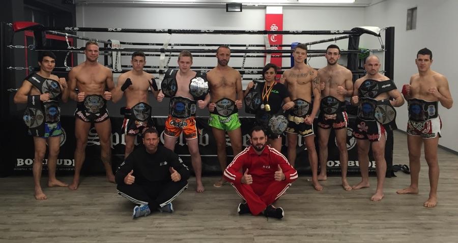 Sportclub Sendling auf der deutsche int. Meisterschaft der ISKA und WKA im K1 und Muay Thai