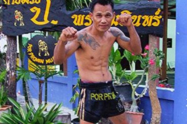 Muay Thai Trainer KIM vom Por Promin Muay Thai Camp aus Hua in Thailand vor Ort beim SCS!