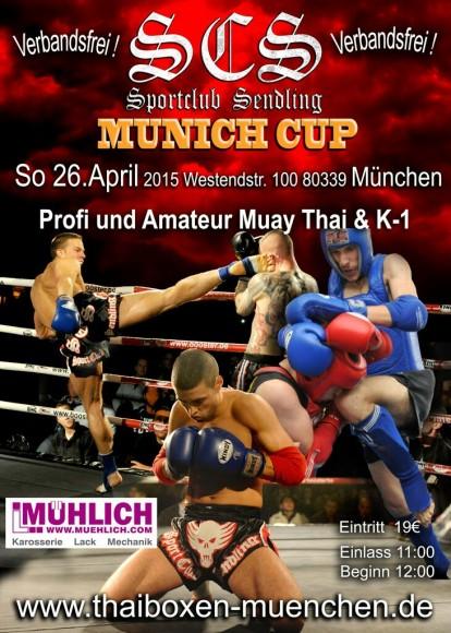Flyer des Kampfsportevents Munich Cup 2015 im SportclubSendling