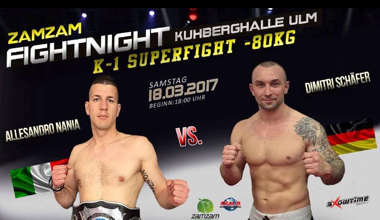 Alessandro Nania auf der ZAMZAM Fight Night – 18.03.2017